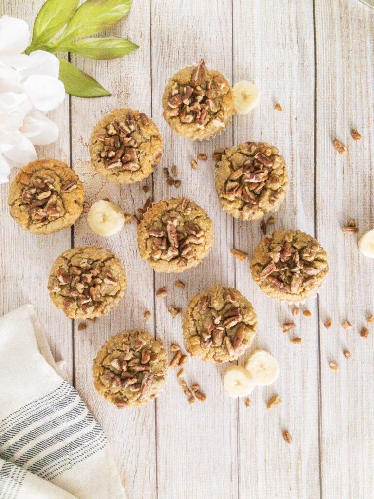 sweetketolife.com-almond-flour-banana-muffins-pecan