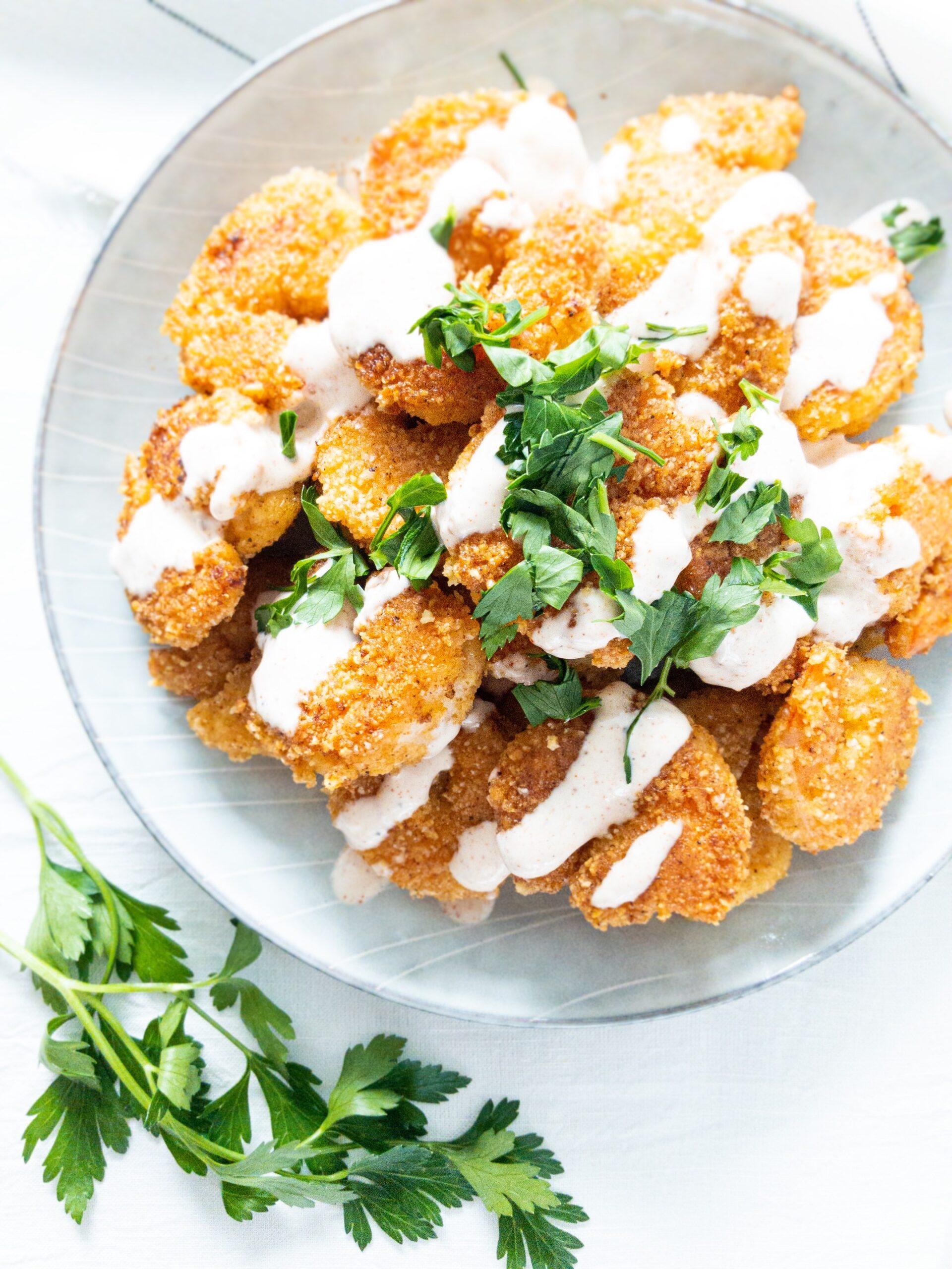 sweetketolife.com-almond-flour-battered-shrimp-crispy
