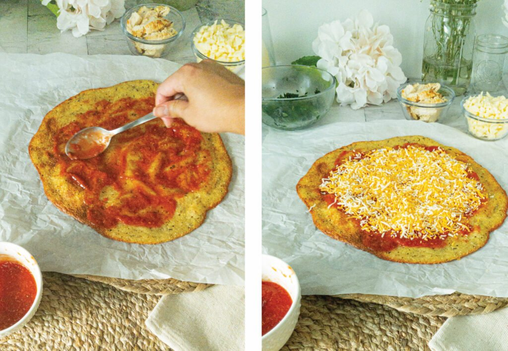 sweetketolife.com-keto-chicken-pepperoni-pizza-cheesy
