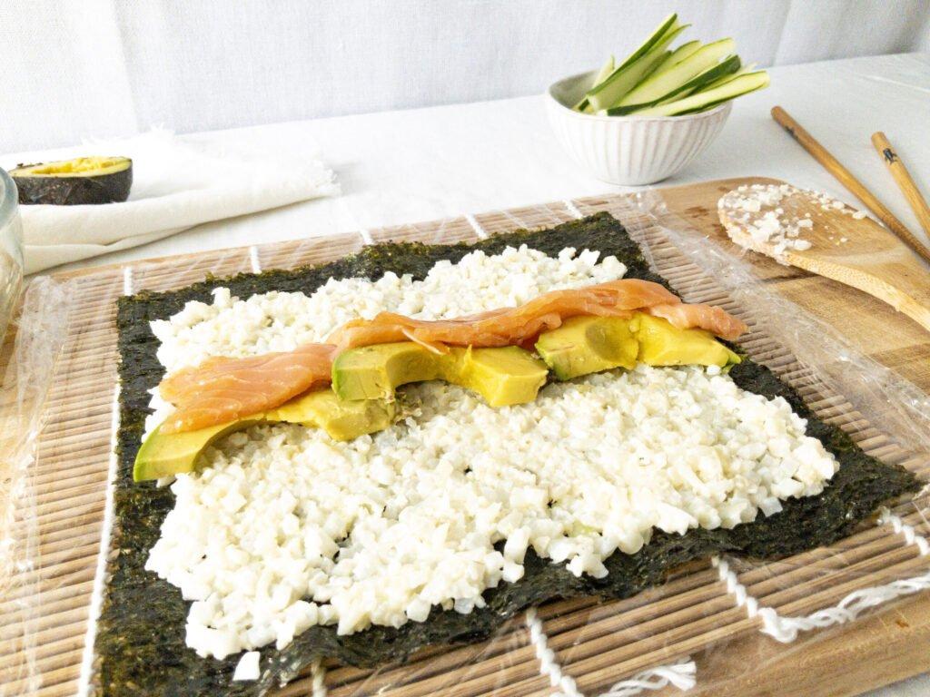 sweetketolife.com-keto-friendly-sushi-cauliflower-rice-fresh