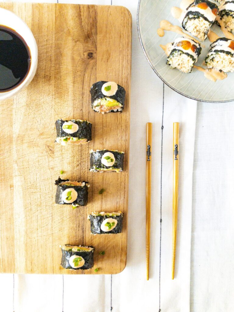 sweetketolife.com-keto-friendly-sushi-cauliflower-rice-roll