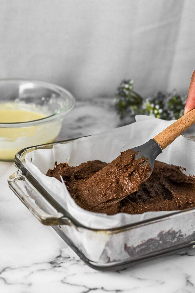 sweetketolife.com-keto-cream-cheese-swirl-brownie-batter