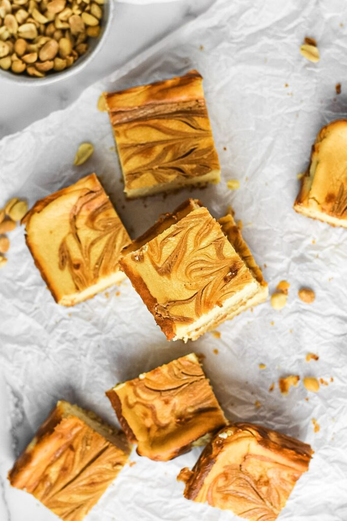 moresweetthansaly.com-keto -cheesecake-squares-peanut-butter-squares-creamy