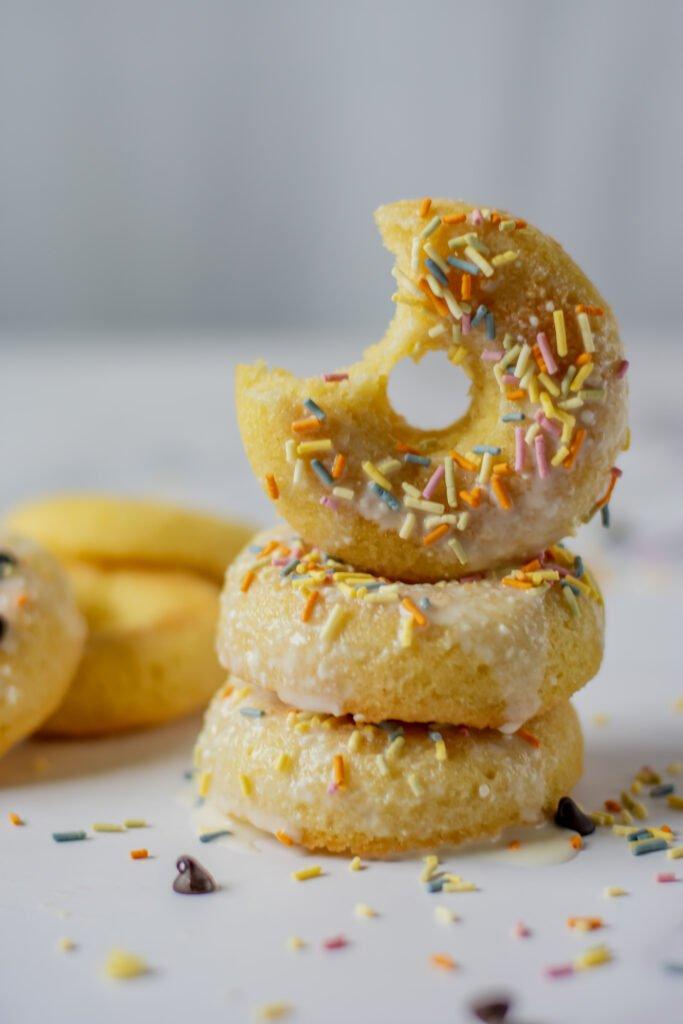 moresweetthansalty.com-almond-flour-doughnuts-glazed-vanilla-sprinkles-cream-cheese-sugar