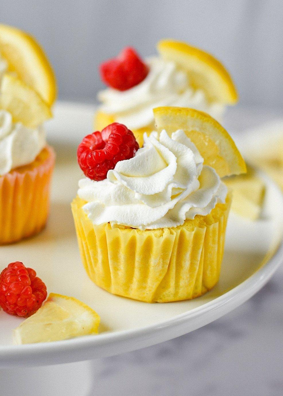 moresweetthansalty.com-keto-lemon-cupcakes-with-keto-raspberry-jam-filling-layer-cake