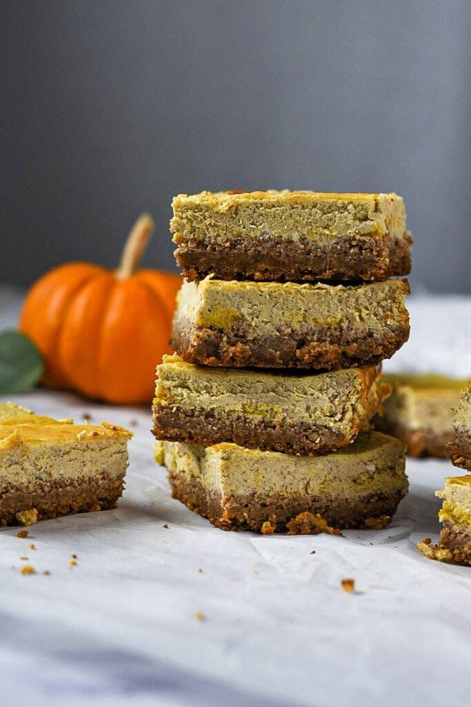 sweetketolife.com-flourless-pumpkin-dessert-cheesecake-squares