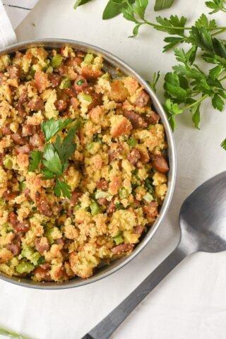 moresweetthansalty.com-keto-stuffing-with-sausage-tureky-sage