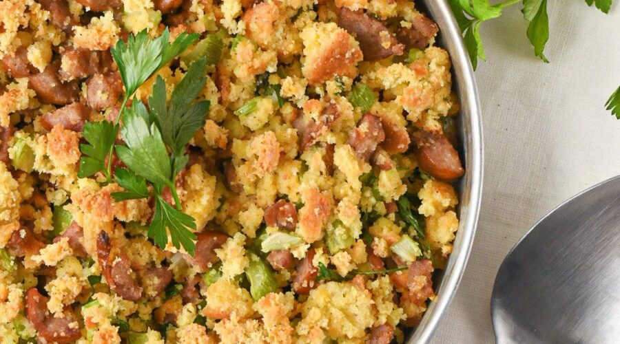 moresweetthansalty.com-keto-stuffing-with-sausage-tureky-sage